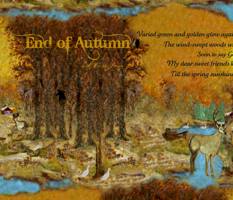 End of Autumn w.c. fabric by paragonstudios on Spoonflower - custom fabric