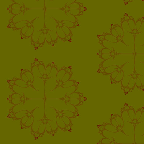 Julia/ Mandelbrot Set Mathematical Fabric 2