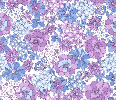 Flower_Graden fabric by thornbirds on Spoonflower - custom fabric