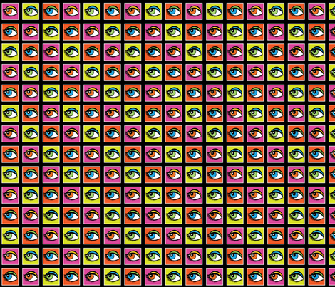 Eyes fabric by tessiegirldesigns on Spoonflower - custom fabric