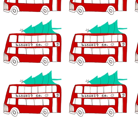 christmas bus fabric by mummysam on Spoonflower - custom fabric