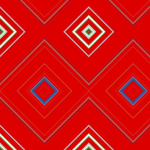 Red_Diamond_Geometric Pattern
