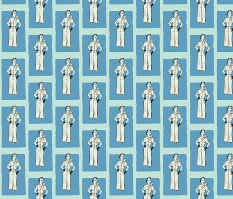 Vintage Dress Pattern fabric by nalo_hopkinson on Spoonflower - custom fabric