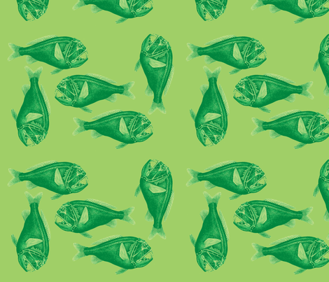 Green cololepsis fabric by nalo_hopkinson on Spoonflower - custom fabric