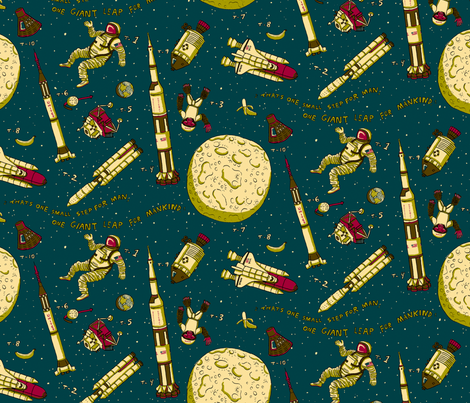 Space! fabric by emuattacks on Spoonflower - custom fabric