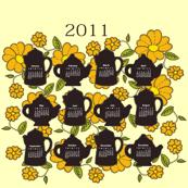 2011 Retro Style Tea Towel Calendar
