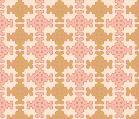 neutral_mosaic_bright fabric by holli_zollinger on Spoonflower - custom fabric