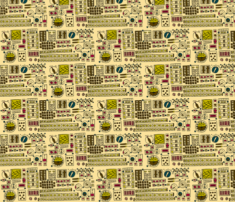 Control Panel fabric by 1stpancake on Spoonflower - custom fabric