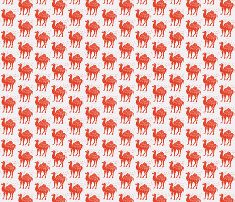 Red Camels Revisited fabric by bad_penny on Spoonflower - custom fabric
