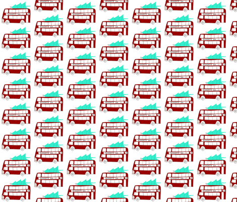 holiday double decker bus fabric by mummysam on Spoonflower - custom fabric