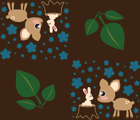 Deer & Rabbit fabric by mayenedesign on Spoonflower - custom fabric