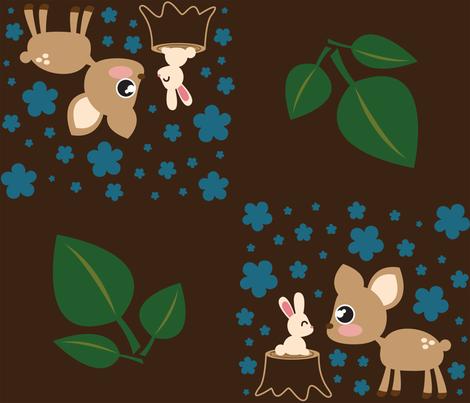 Deer & Rabbit fabric by mayenedesign on Spoonflower - custom fabric