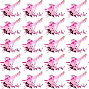 Happy Pink Birdie