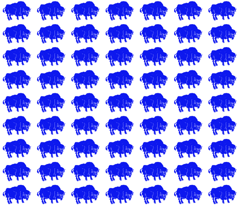 Blue Buffalo fabric by bad_penny on Spoonflower - custom fabric