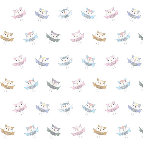 Itty Bitty Owls fabric by studio30 on Spoonflower - custom fabric