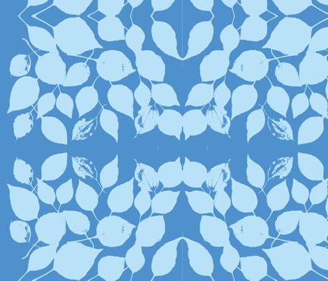 blue leaves fabric by arteija on Spoonflower - custom fabric