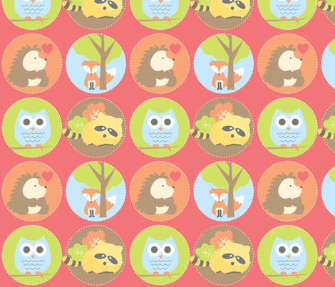 Whoo loves the woods? fabric by saraink on Spoonflower - custom fabric