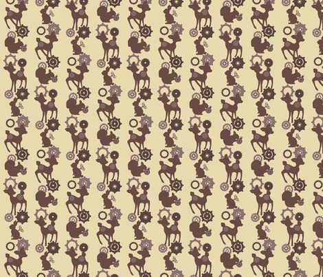 My Mechanical woodland - Brown fabric by mezzo on Spoonflower - custom fabric