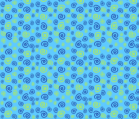 Blue Spirals fabric by donnamarie on Spoonflower - custom fabric