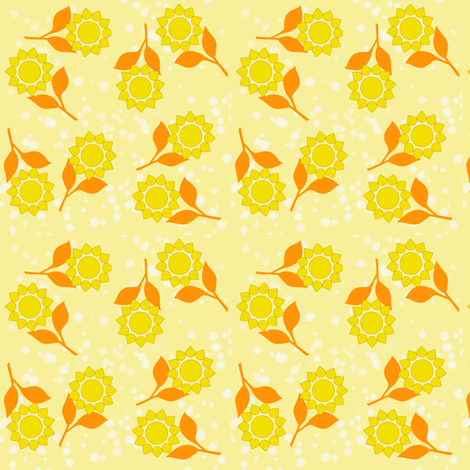 Sunny Flowers fabric by oranshpeel on Spoonflower - custom fabric