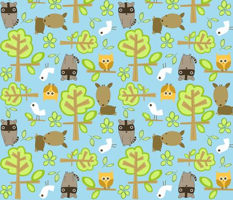 blue sky forest fabric by emilyb123 on Spoonflower - custom fabric