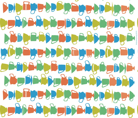 cups_towel fabric by antoniamanda on Spoonflower - custom fabric