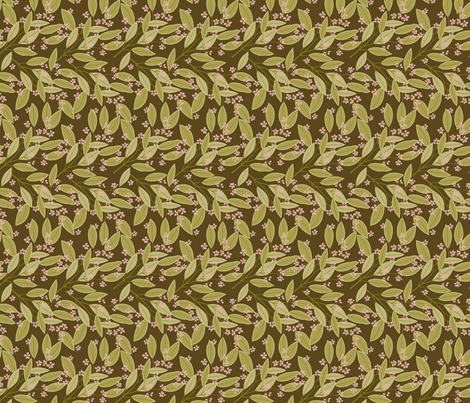 eucalyptus_brown2 fabric by cindy_lindgren on Spoonflower - custom fabric