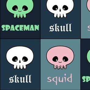 skull squid spaceman check