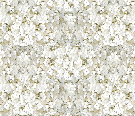 Hydrangeas (creamy white) fabric by hauteideas on Spoonflower - custom fabric