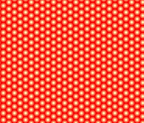 spotted blooms cream cartwheels on red fabric by fiona_mcdonald_juicyapple on Spoonflower - custom fabric