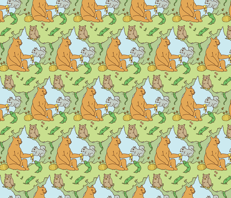 cclikeman_forestcreatures_contest_a01 fabric by fatclike on Spoonflower - custom fabric