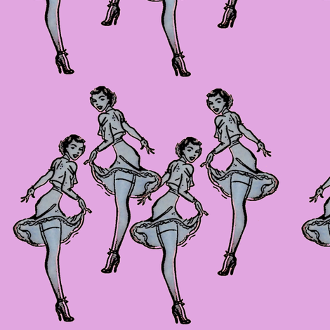 Pinups too fabric by nalo_hopkinson on Spoonflower - custom fabric
