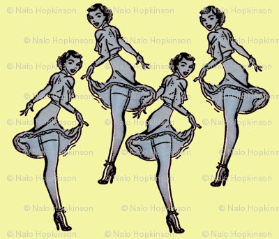 Pinups yellow