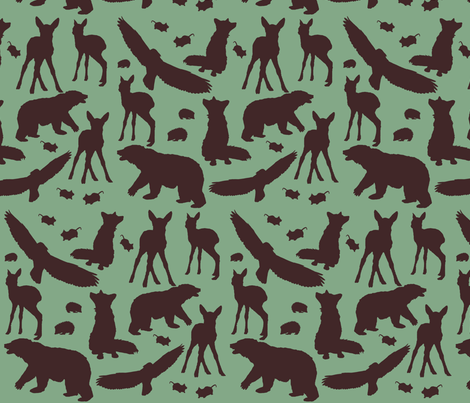 Forest Jam! fabric by chezmargot on Spoonflower - custom fabric