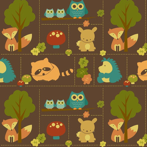 Cuddly Woodland Animal Bricks