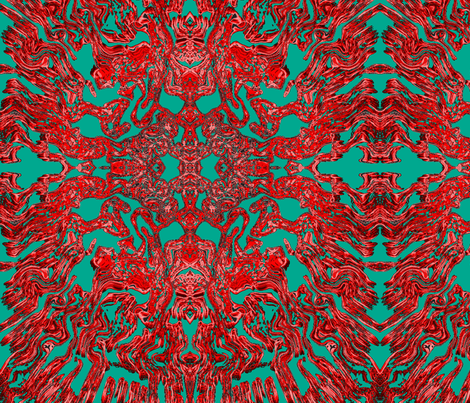 Red Coral fabric by buckshot on Spoonflower - custom fabric