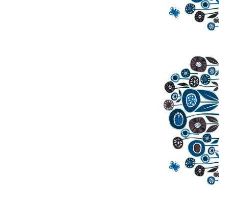 blue_and_brown_tea fabric by antoniamanda on Spoonflower - custom fabric