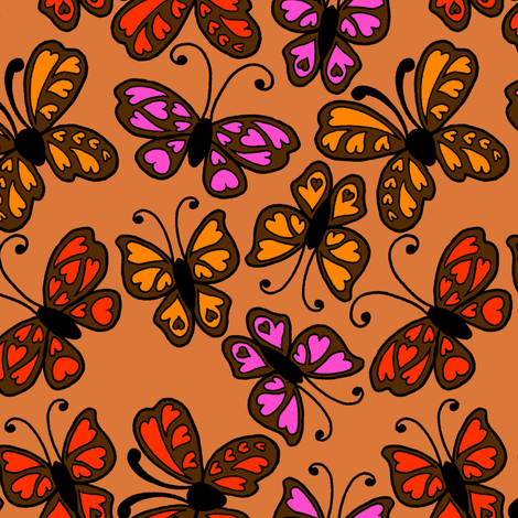 Butterflies 2 fabric by jadegordon on Spoonflower - custom fabric