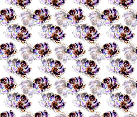 Floral Fantasy White fabric by rosannahope on Spoonflower - custom fabric