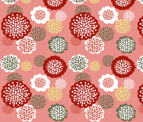 pretty in pink fabric by emilyb123 on Spoonflower - custom fabric