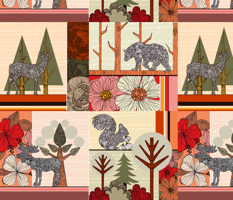 In Woodland fabric by valentinaharper on Spoonflower - custom fabric