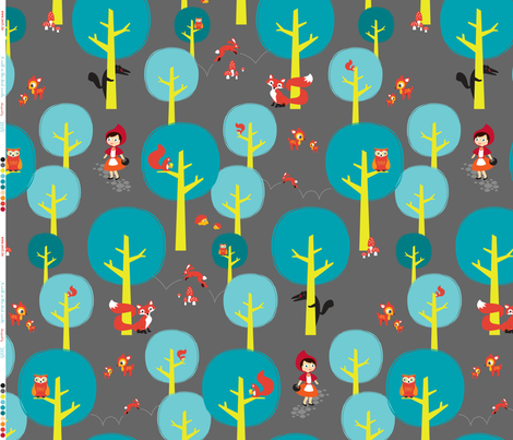 A walk in the dark woods fabric by zesti on Spoonflower - custom fabric