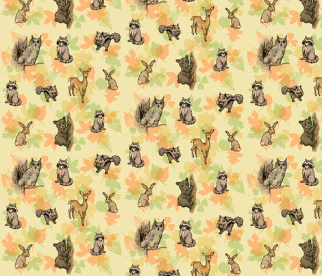 Forest Critters fabric by vacadude on Spoonflower - custom fabric