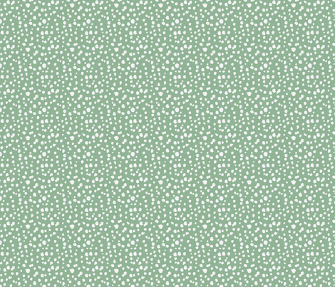 Messy Polka Dots in Moss fabric by dolphinandcondor on Spoonflower - custom fabric