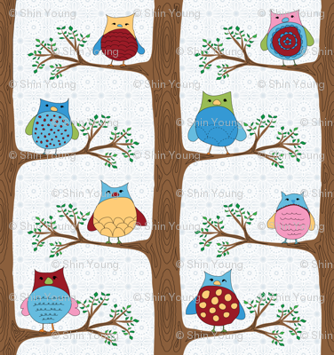 A family of owls (LARGE REPEAT)