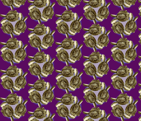 sitting_rabbit_circle/3 plum fabric by forestheart on Spoonflower - custom fabric