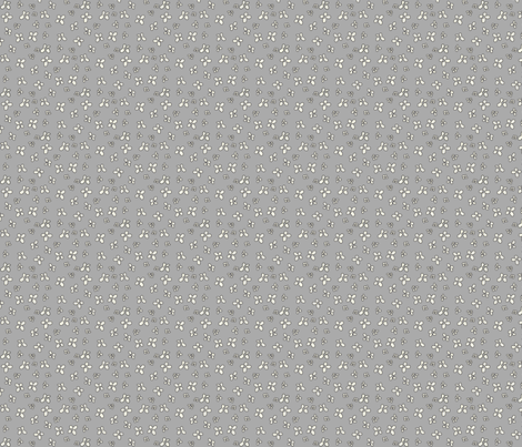 Flowers in gray fabric by catru on Spoonflower - custom fabric