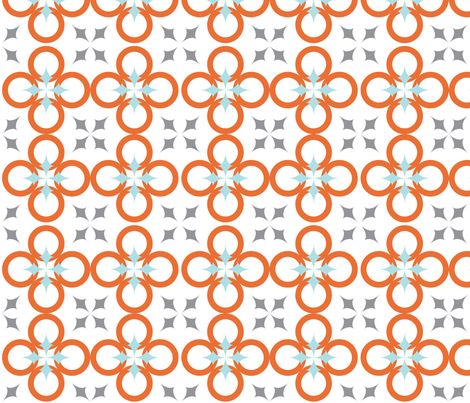 White Mod Circle fabric by audreyclayton on Spoonflower - custom fabric
