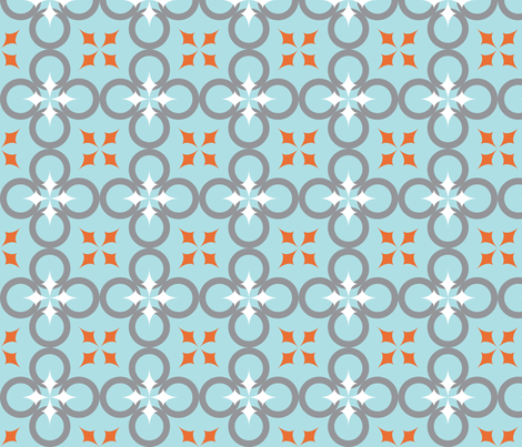 Blue Mod Circle fabric by audreyclayton on Spoonflower - custom fabric