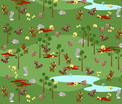 Bad Woods fabric by thirdhalfstudios on Spoonflower - custom fabric